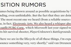 海外   大手笔!外媒爆料微软正考虑收购EA、V社、PUBG