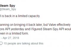 观察 | 更新统计算法 Steam第三方统计网站SteamSpy重新上线